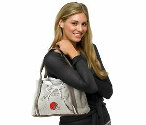 Cleveland Browns Purse Hoodie Handbag NFL Ladies Embroidered Logo