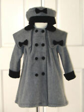 Victoria Girls Winter Dress Coat Dark Gray, Size 3/4 (3-4 years)