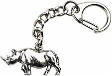 Rhino Keyring  -  Quality Made Pewter