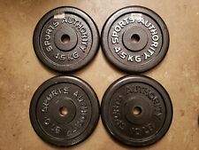 Sports Authority FOUR 10LB Barbell Weight Plates Standard size 40lbs total