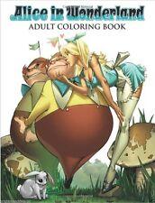 Alice Wonderland Grimm Fairy Tales Adult Colouring Book Oz Comic Manga Anime