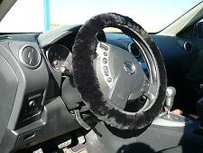 Australian Sheepskin Steering Wheel Cover Covers - Black