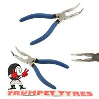 Bent Nosed Pliers 150mm   Serrated Jaws & Cushioned Grip   Top Quality   5909