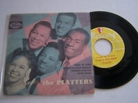 EP 4 TITRES VINYLE 45 T , THE PLATTERS , HEART OF STONE  . VG  / EX