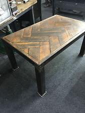 Industrial Coffee Table Parquet Floor