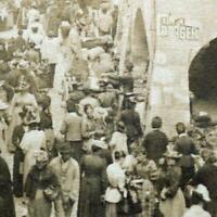 ANCIENNE PHOTO 1890 VIEIL ANNECY MARCHÉ FOIRE HAUTE-SAVOIE PHOTOGRAPHIE CHARNAUX