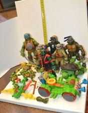 LOT JOUET FIGURINE Tortues NINJA TMNT mutant ninja turtles VEHICULE AVEC ACCESS.