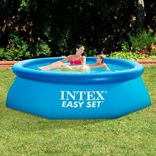 Intex Easy Set Inflatable Swimming Paddling Pool - Blue, 8' x 30""