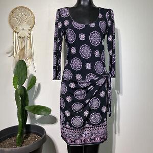 Medium Womans MAX STUDIO Ruched Side Tie Bodycon sheath Dress