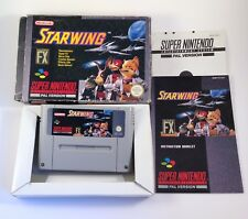 Starwing Super Nintendo PAL Version Boxed Game w/ Manual Fully Working VGC SNES