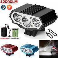 12000LM 3x CREE XM-L T6 LED Cycling Bicycle Bike Light Headlight Head Front Lamp