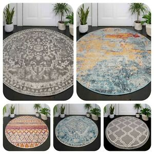 New Circle Rugs for Living Room Modern Round Rugs Moroccan Large Cheap Area Rugs