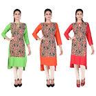 Bollywood Women Indian Ethnic straight Key Hole Neck  Kurti Casual Top / Tunic