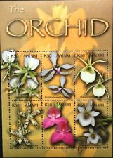 MALAWI 2003 Klb 732-37 Block 82 Orchideen Orchids Blumen Flowers MNH