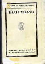 C1 NAPOLEON Comte Saint Aulaire TALLEYRAND Edition ORIGINALE NUMEROTEE Alfa