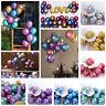 50X 12'' Metallic Latex Chrome Pearl Balloon Helium Wedding Birthday Party Decor