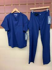 NEW Men's Grey's Anatomy Navy Blue Scrubs Set With Small Top & Small Pants NWT