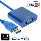 3.0 USB to VGA External Graphic Card Video Converter Adapter fo Win7/8/ 1080P US