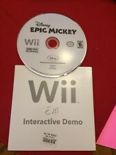 Nintendo Wii Demo Disc NFR Disney Epic Mickey Rare In Original Sleeve