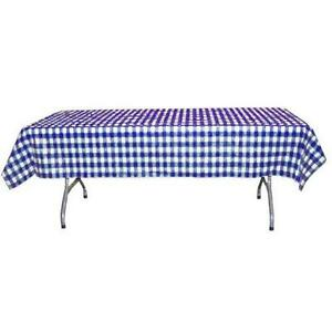 """New Checked Gingham Plastic Tablecloth 54"""" X 108"""" camping BBQ 12 Pack- FREE SHIP"""