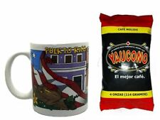 Lot of Puerto Rico Coffee Mug and 4oz Yaucono Groung Coffee FREE SHIP #3