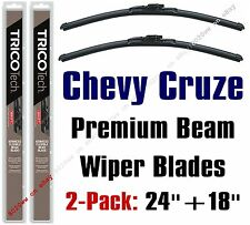 2011-2016 Chevy Chevrolet Cruze Wiper 2-Pack Premium Beam Blades - 19240 & 19180
