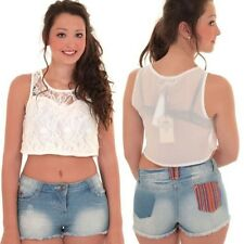 Ladies High Waist Low Rise Denim Blue Aztec Pocket Faded Hot Pants Fitted Shorts