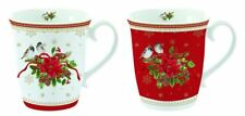 EasyLife Spirit Of Christmas Set of 2 Porcelain Mugs