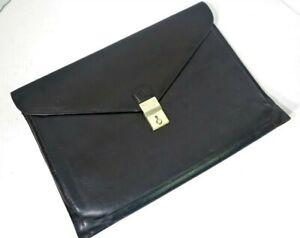 "Vintage BALLY Black Italian Leather Envelope Document Portfolio 10.5""x15"""