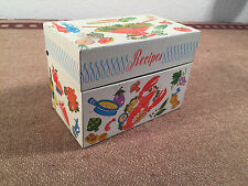 Vintage Recipes Box Art Metal OHIO USA w/blank index cards- Write your Recepies!