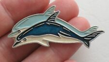 Russian CARTOON HERO pin Buttons badge Kid Child Soviet Metal Dolphin Delfin Old