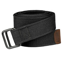 Drizzte Boys Extra Long 100 to 190cm Double D Ring Canvas Black Cloth Belts Mens
