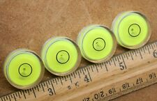 "LOT OF 4 = 1"" DIAMETER BULLS EYE BUBBLE LEVELS TELESCOPE RV LEVELING"