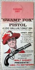 Canada Dry Ginger Ale bottle hanger Disney's Swamp Fox TV show promotion 1959