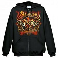 SABATON - COAT OF ARMS HOODED SWEATSHIRT  (GRÖßE/SIZE M, SCHWARZ/BLACK)  NEU