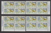 CANADA #507 6¢ UN Biological Program Match Set Plate Blocks MNH