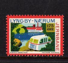 LYNGBY NAERUM JERNBANE DENMARK LOCAL RAILWAY STAMP,150o,RAILWAYS,NHM