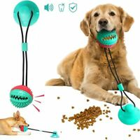 Dog Toy Silicon Suction Cup Tug Interactive Dog Ball Toys For Pet Chew Bite