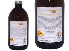 Organic Castile Soap Unscented, Glass Bottle 500ml,100% Natural & SLS Free
