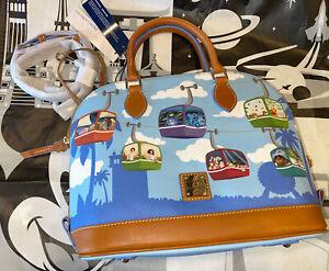 Disney Parks Dooney & Bourke Skyliner Ride Satchel Zip Bag Purse Haunted Mansion