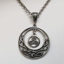 bijoux pendentif Lune entrelacs celtiques - Triskel symbole de la Bretagne
