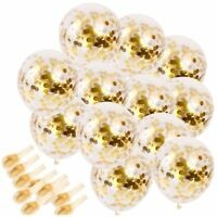"Gold Confetti Balloons 10/20Pcs 12"" Golden Paper Confetti Dots Party Decorations"
