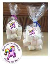 24 Personalised Unicorn Do It Yourself Cello Birthday Party Sweetie Favour Bags