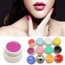 12 Colors Solid Pure Nail UV Gel Nail Art Polish Tool Set Kits DIY Decor nice