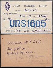 RUSSIA 1937 QSL CARD (ID:393/D37591)