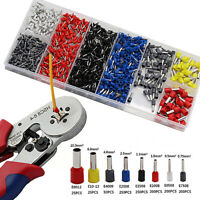 Wire Crimping Tool Crimper Pliers 1200pc Terminal Connector Electrical Tool Set