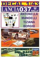 DECAL 1/43 LANCIA 037 RALLY TOTIP A.MANDELLI R.SOL-RACE 1983 DnF (01)