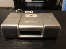 iHome (iH9) Silver iPod Speaker Dock Dual Alarm Clock Radio