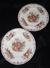 "TWO VTG Masons Red Fruit Basket Ironstone C4818 10.5"" Dinner Plates ENGLAND EUC"