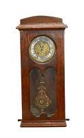 Antique German Lenzkirch Ornate Brass RA Pendulum Regulator Wall Clock